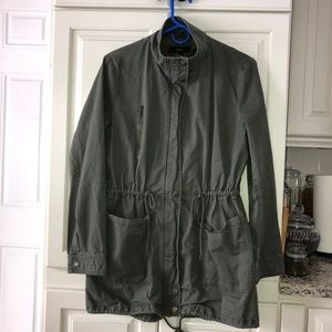 Forever 21 Army Green Canvas Jacket Large
